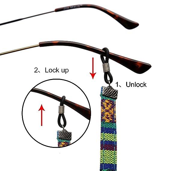 Amazon.com: Cordón para sujetar gafas, retenedor de gafas de ...