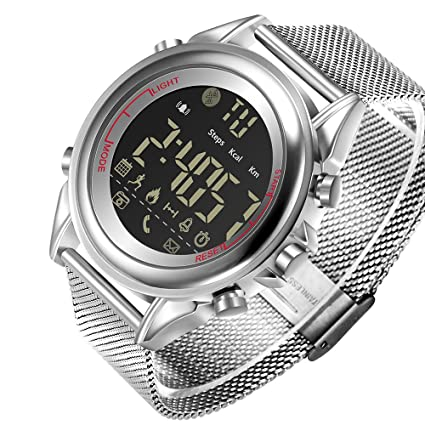 Amazon.com: JeiSo Ultra-Thin New Smart Watch Steel Mesh ...