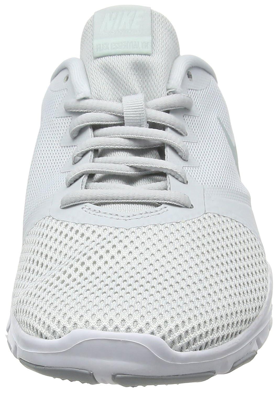 NIKE Women's Flex Essential Tr Training Shoe B07BSJZPCR 8|Pure Platinum/Wolf Grey-igloo