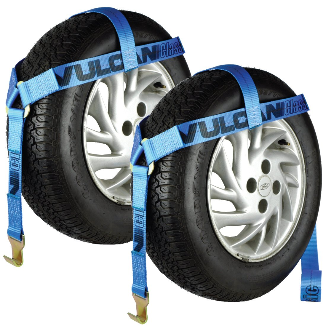 Vulcan Car Dolly Tire Harness Blue - 2 pack