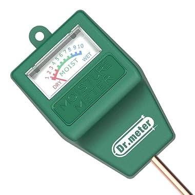 Dr.meter S10 Soil Moisture Sensor Meter Hygrometer-Garden,Farm,Lawn,Plants,Indoor&Outdoor(No Battery Needed), 1 Pack, Green