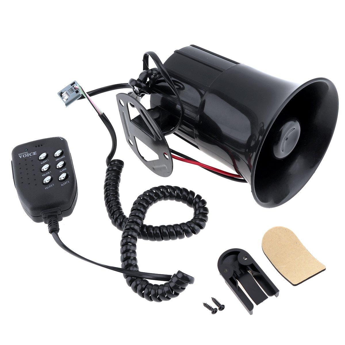 Sirena de 12 V con seis sonidos y altavoz para coches ...