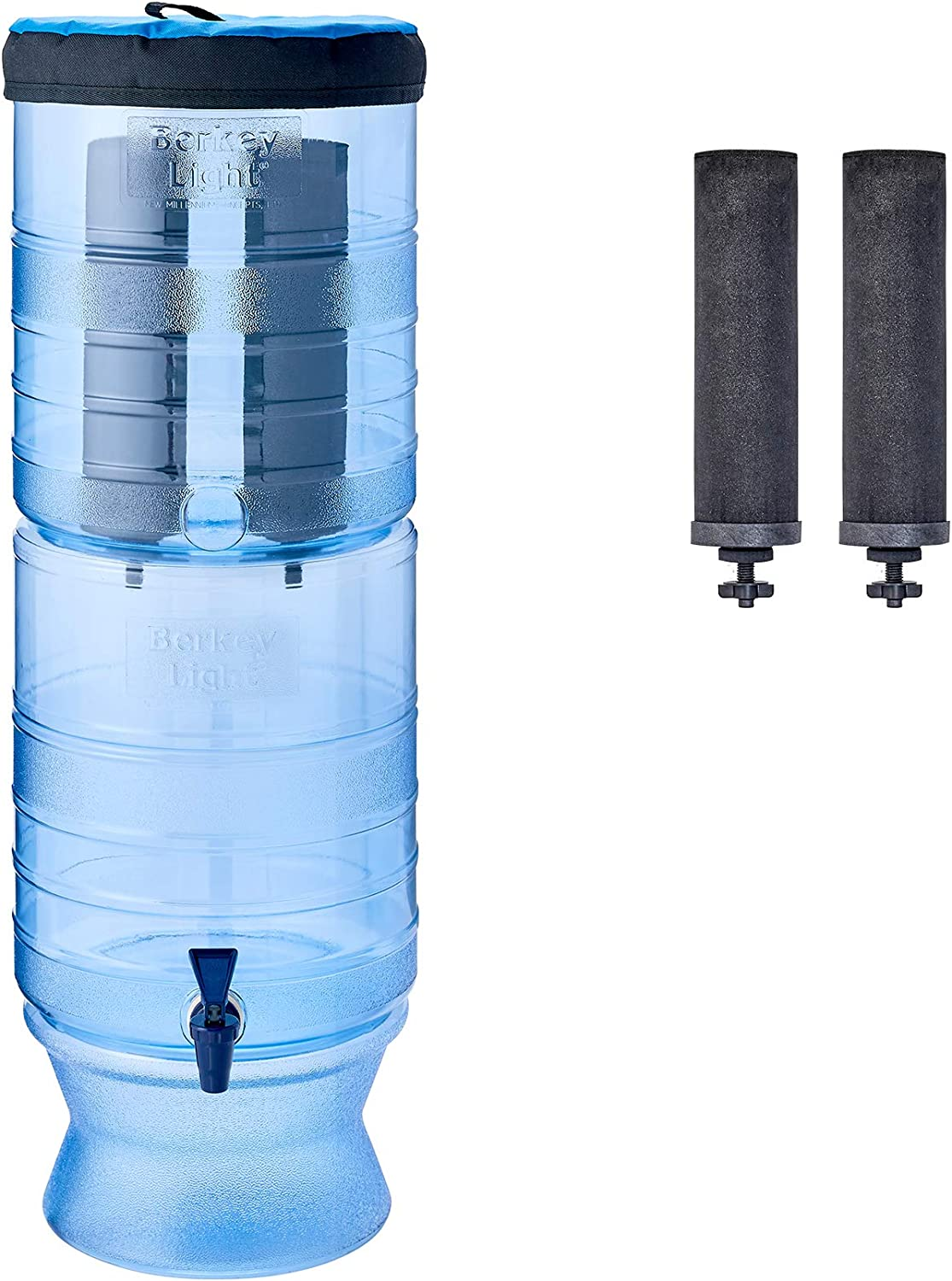 Berkey Light Gravity-Fed Water Filter with 2 Black Berkey Purification Elements