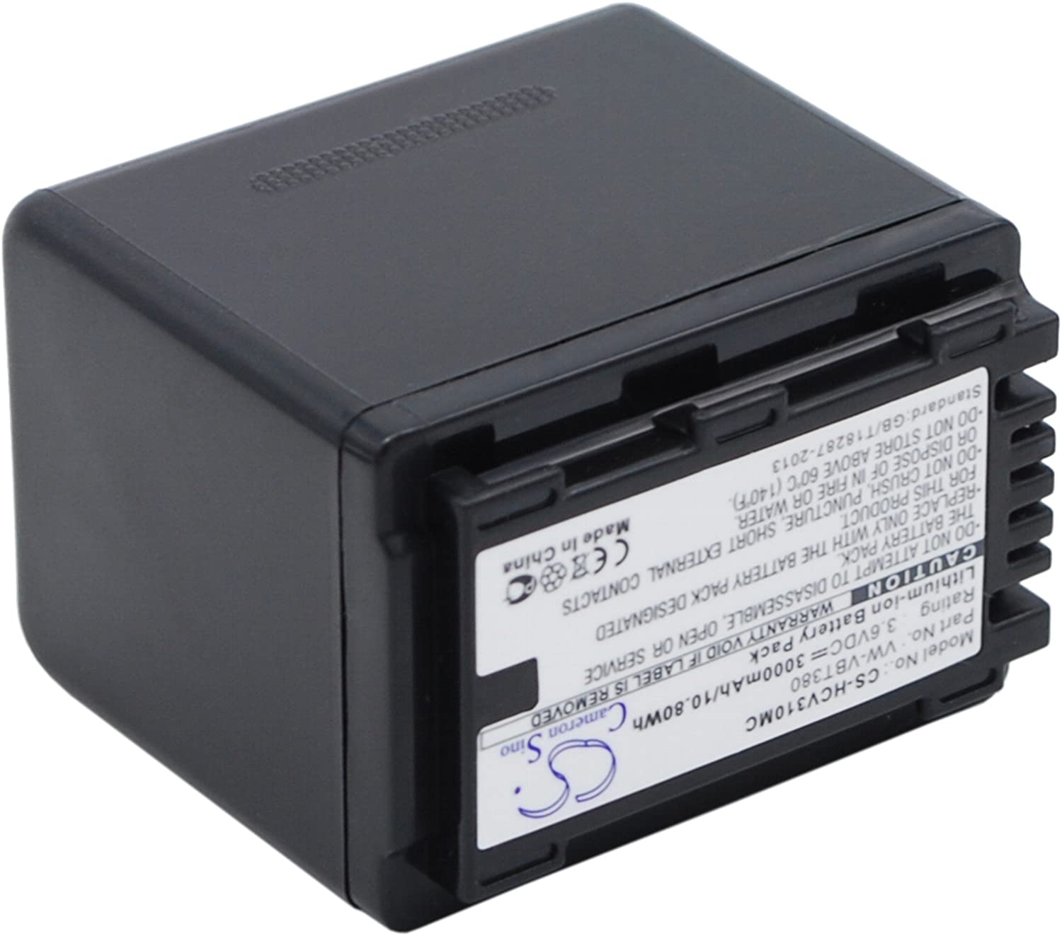 XPS Replacement Battery Compatible with PANASONIC HC-250EB HC-550EB HC-727EB HC-750EB HC-770EB HC-989 HC-V110 HC-V110GK HC-V110MGK HC-V130 HC-V210 HC-V210GK HC-V210M HC-V210MGK PN VW-VBT380