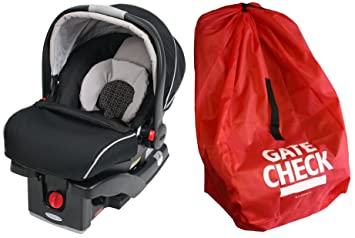 Graco SnugRide Click Connect 35 Infant Car Seat With Gate Check Travel Bag Pierce
