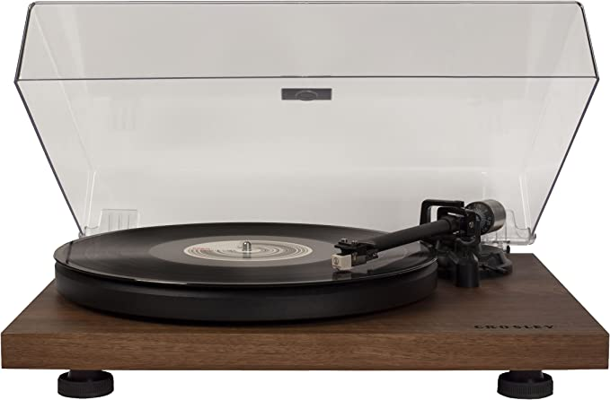 Crosley C6 2-Speed Turntable, Vinyl Turntable w/ Built-in Pre-Amp & Adjustable Tone Arm - Walnut