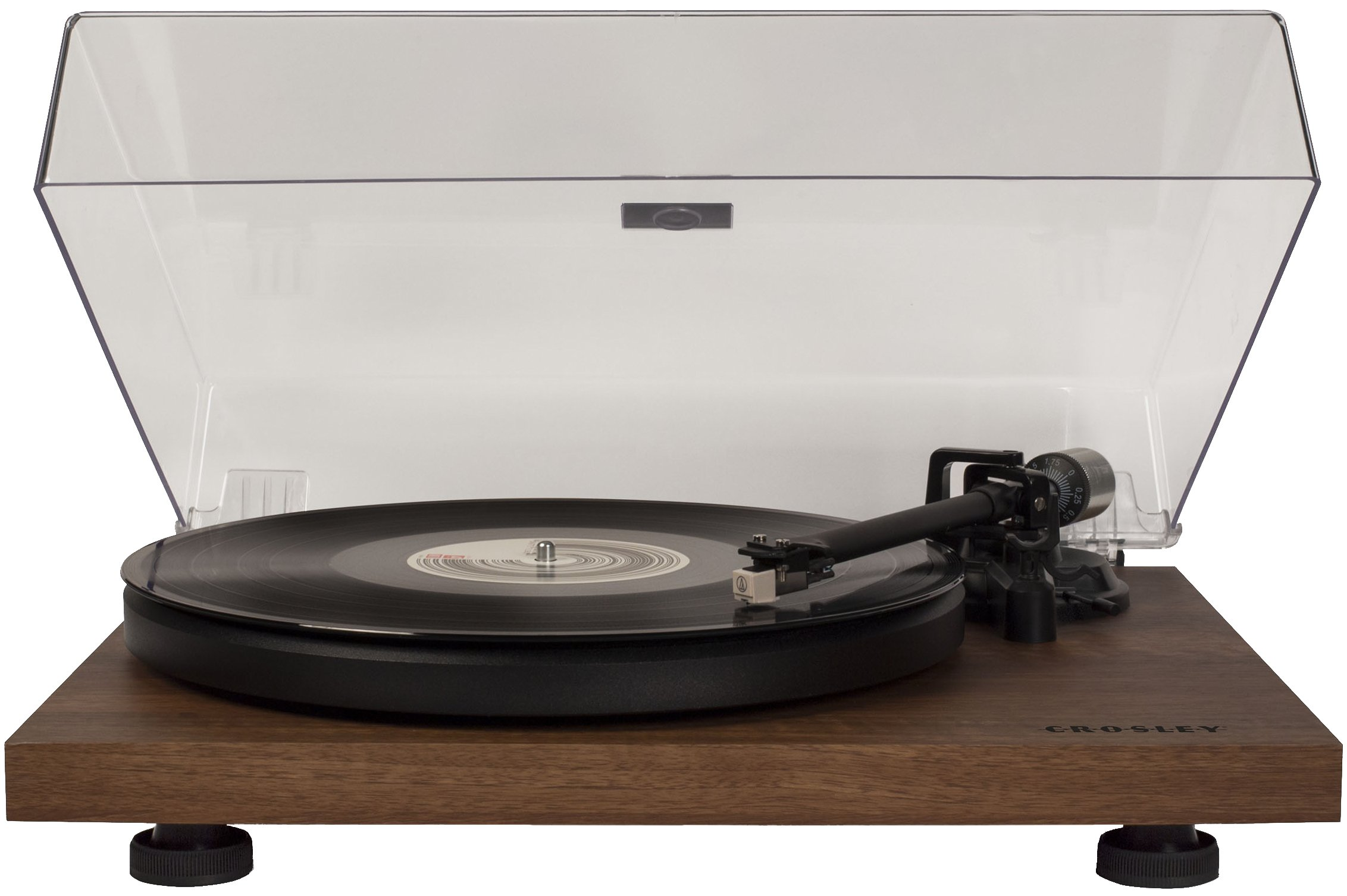 Crosley C6 Belt-Drive Turntable with Built-in Preamp and Adjustable Tone Arm, Walnut