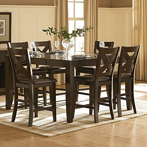 Homelegance Crown Point 60 Counter Height Butterfly Leaf Table, Merlot