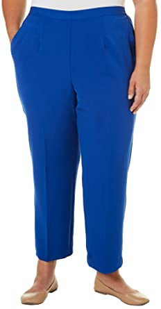 02b0f87b827e9 Alfred Dunner Plus Size Pants Royal 22W Short at Amazon Women s Clothing  store