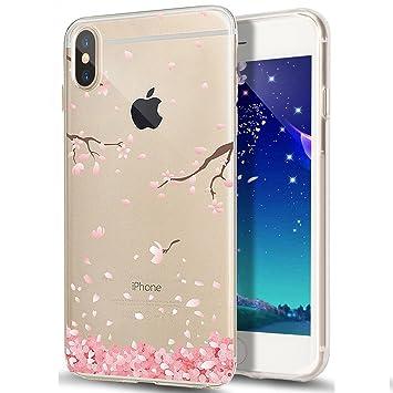 coque iphone x transparente rose