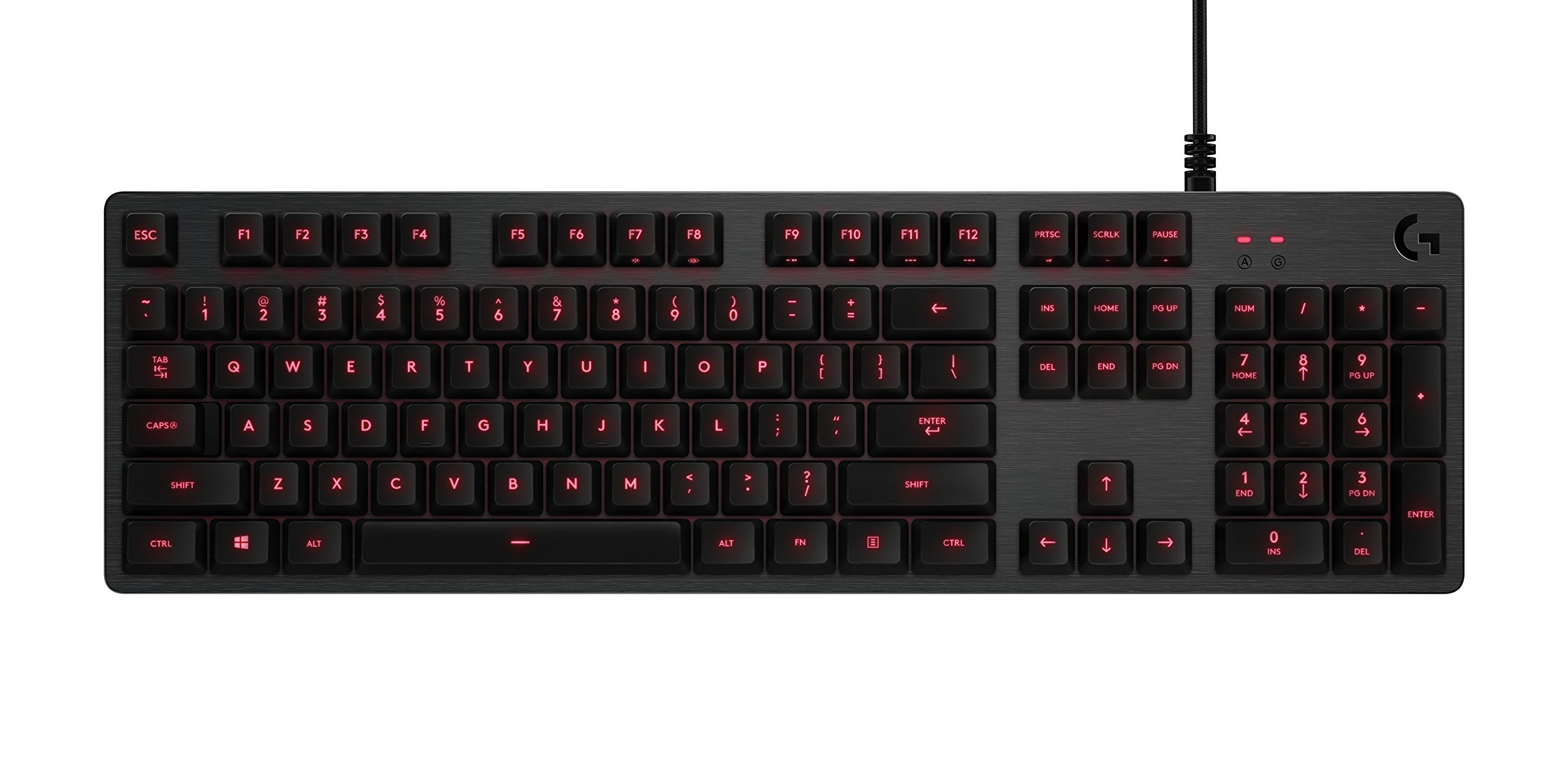 Logitech G413 Backlit Mechanical Gaming Keyboard with USB Passthrough – Carbon by Logitech