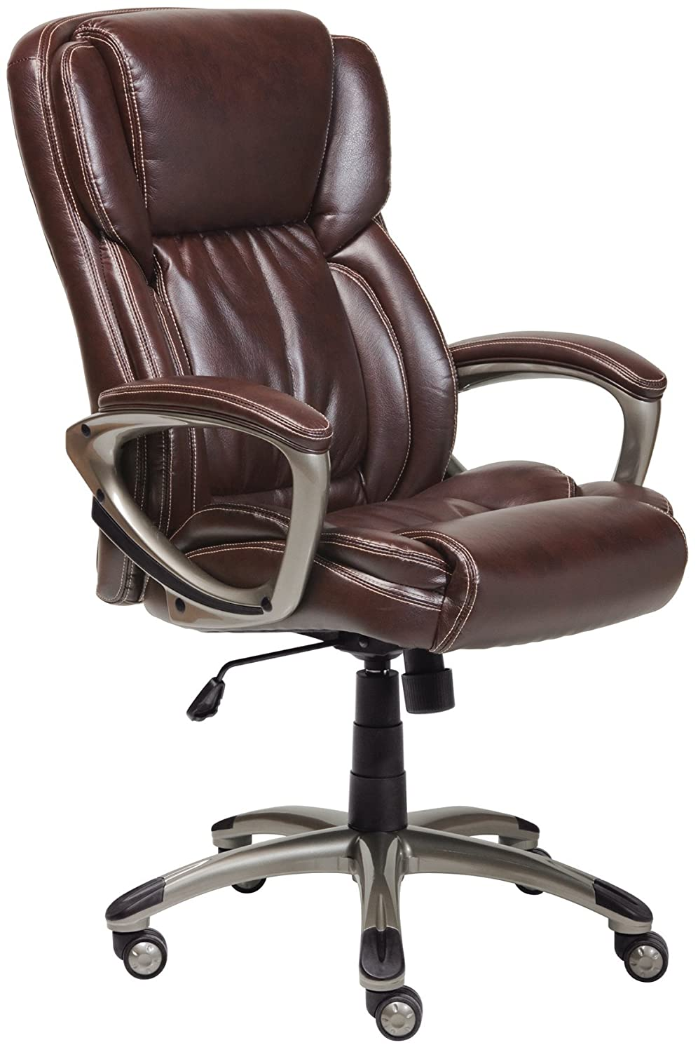 Serta at Home Executive Office Chair, Supple Bonded Leather, Biscuit Brown, 43520 Millwork Holdings Co. Inc.