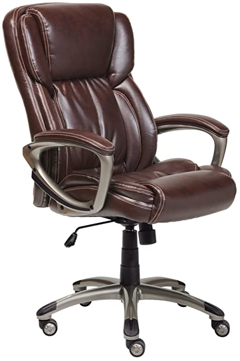 Amazon.com: Serta Works Executive Office Chair, Bonded Leather ...