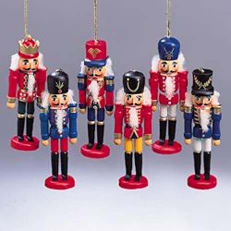 """Club Pack of 36 Colorful Wooden Nutcracker Soldier Christmas Ornaments  4.5"""" - Amazon.com: Club Pack Of 36 Colorful Wooden Nutcracker Soldier"""