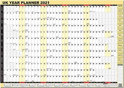 Arpan - Calendario de pared de 2020, tamaño A1, laminado (idioma ...