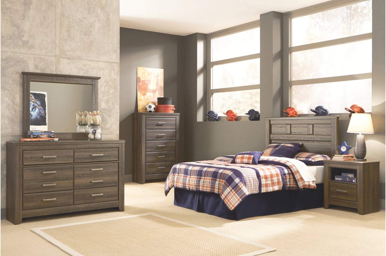 Ashley Furniture Signature Design – Juararo Dresser – 6 Drawers – Casual Styling for Kids Room – Dark Brown