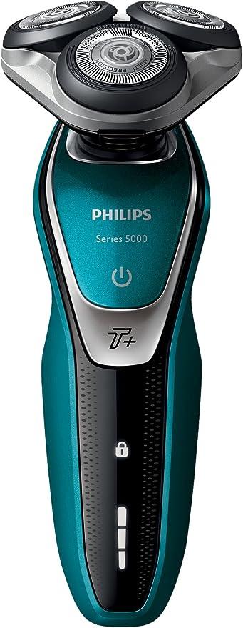 Philips SHAVER Series 5000 - Afeitadora (Máquina de afeitar de rotación, SH50, 2 año(s), Negro, Plata, Turquesa, Batería, Ión de litio): Amazon.es: Hogar
