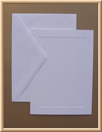 amazon com 5 x 7 a7 white blank flat panel invitation paper or