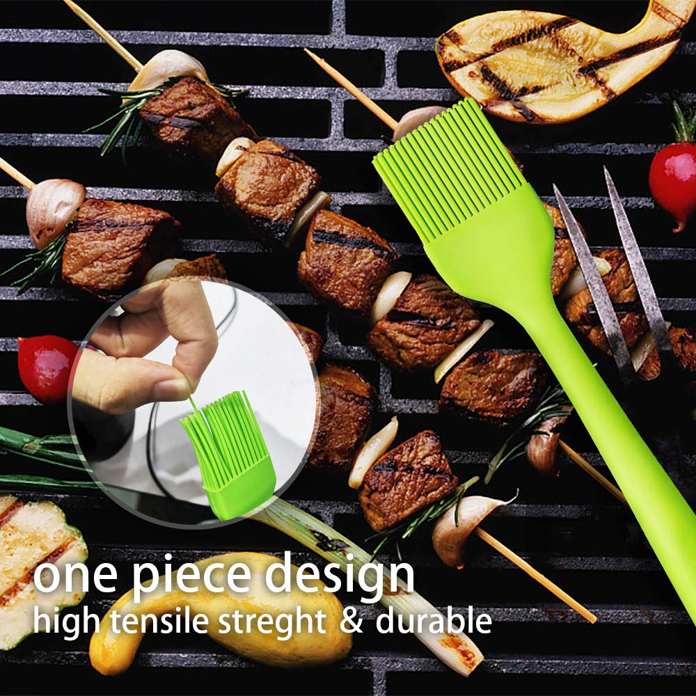 Basting BBQ Sauce Solid Core and Hygienic Solid Coating TOUGS Silicone Pastry Brushes 5 Pack