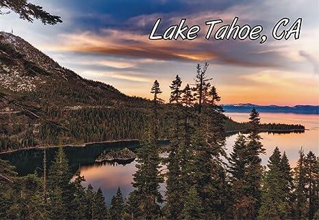 Amazon.com: Emerald Bay, Lake Tahoe, puesta de sol, State ...