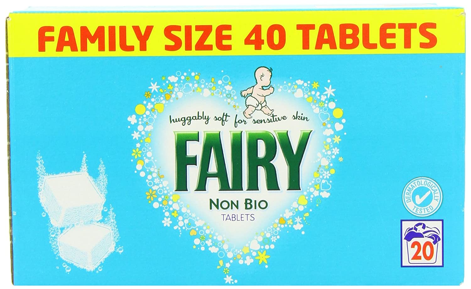 Fairy Non Bio Tablets 40 Pack 20 Wash 1872g