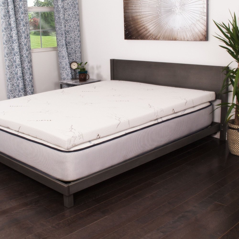 NuForm Talalay Latex 3-inch Mattress Topper White Queen Firm