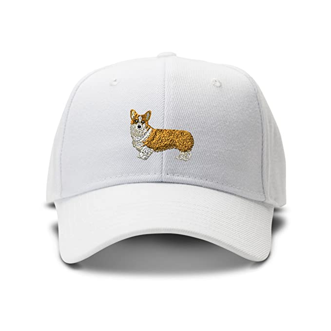 Image Unavailable. Image not available for. Color  Pembroke Welsh Corgi  Embroidery Adjustable Structured Baseball Hat White 65460084e312