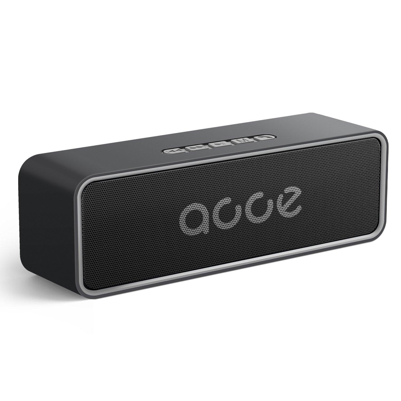【BluetoothCore 5.0】 Altoparlante Bluetooth 5.0, Altoparlante stereo stereo AOOE HD, range 50m-100m, doppio driver da 10W per 24 ore di gioco, splendido suono hi-fi con vivavoce USB 3.5mm Aux USB integrato per PC, iPhone, ipad, Samsung, Nexus, HTC, Laptop e