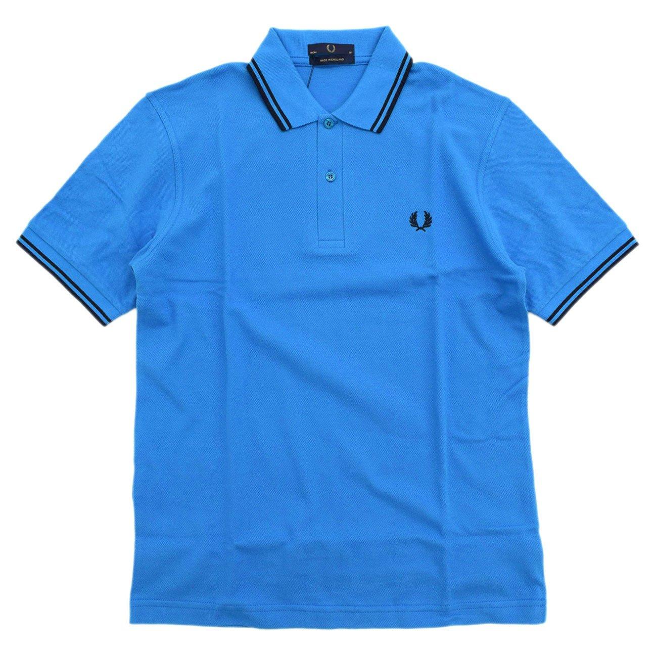 (フレッドペリー) FRED PERRY ポロシャツ ポロ 英国製 半袖 メンズ M12N イングランド B07C4X151X 36(日本S)|ブルー/ネイビー(171) ブルー/ネイビー(171) 36(日本S)