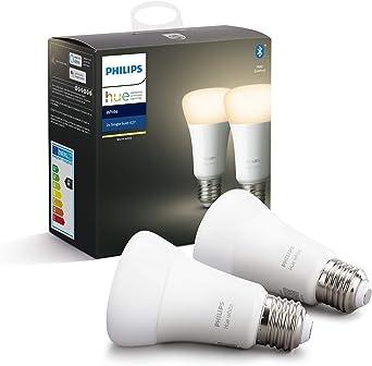 Philips Hue Pack de 2 Bombillas LED Inteligentes E27, con ...