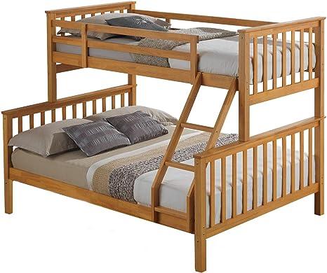 Madera de haya terminado Triple cama Maxi litera: Amazon.es: Hogar