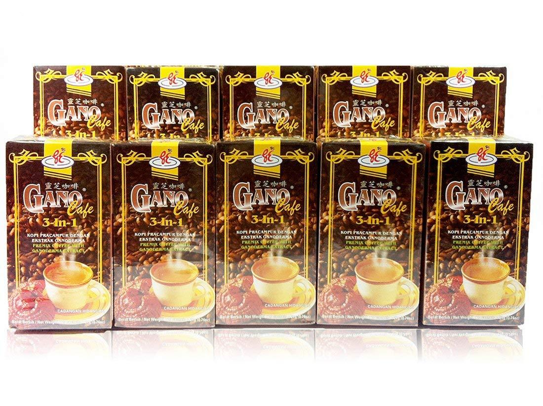 Gano Excel 10 Boxes Ganoderma 3 In 1 Coffee by Gano Excel