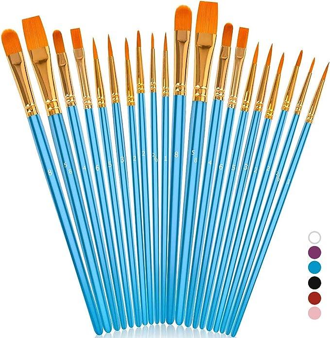 10x Artist Paint Brushes Acrylic Oil Watercolour Painting Craft Art Model set