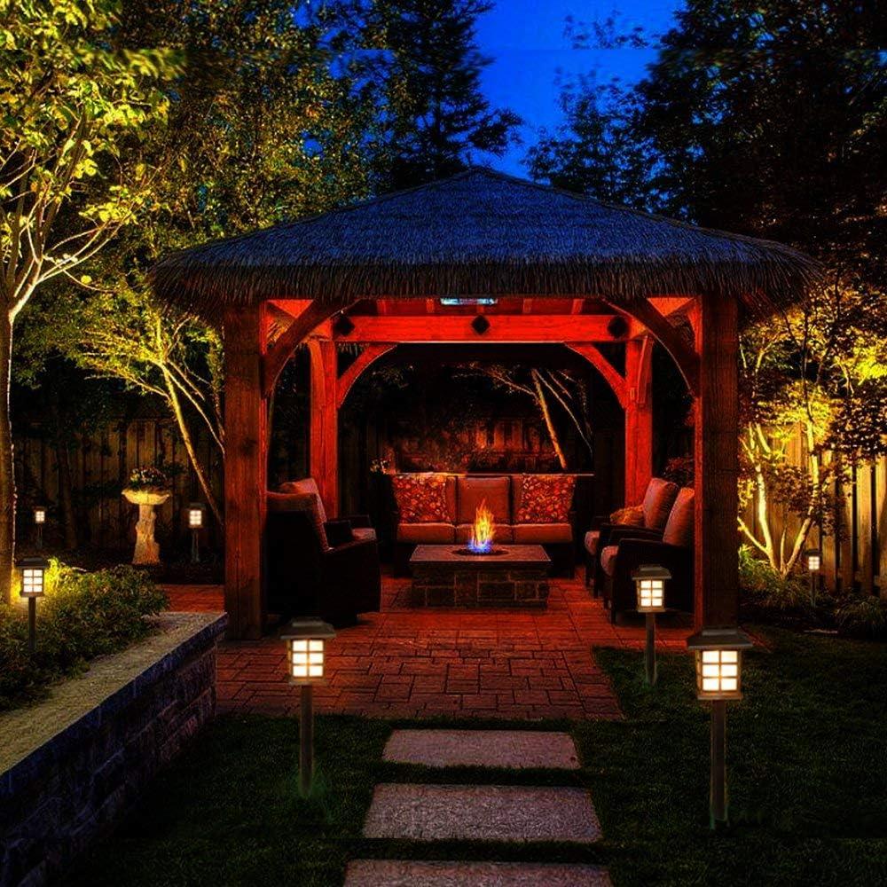 Luces Solares Para Exteriores, Luminarias Solares Para Jardines, Pasarelas Y Patios Impermeables Para Accesorios Focos Estaca Con Energía - Blanco Cálido: Amazon.es: Iluminación