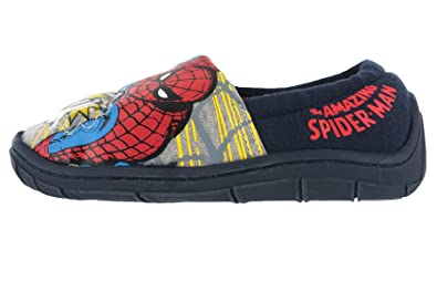 eca9f824ba4c Avengers Boys Marvel Spiderman Lights Slippers Shoes Navy Blue Toddler  Children Size 7-3  Amazon.co.uk  Shoes   Bags