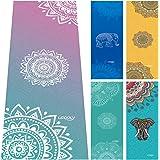 UCOOLY Yoga Towel,Microfiber Mat Towels w Free Spray Bottle and Smart Corner Pocket Elastic Loop Design, Non Slip, Super Soft Sweat Absorbent Towel for Hot Yoga, Pilates and Fitness 24x72