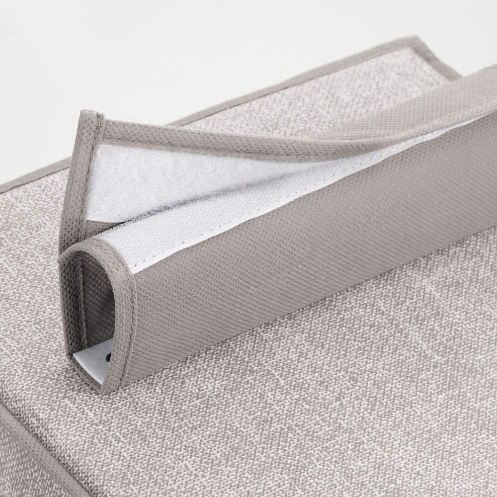 7 compartiments et 3 tiroirs meuble suspendu pour peluches gris en polypropyl/ène jouets et couches mDesign rangement suspendu en tissu pour larmoire /étag/ère suspendue
