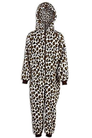 eee39e504e414 Camille Combinaison pyjama - motif léopard des neiges - enfant 12-14 Years