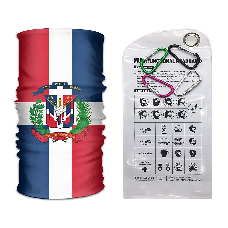 WENEOO LA 16 in 1 Seamless Scarf Thin Blue Line Flag Dominican Maryland American Flag Firefighter USA Mexico Crack Flag Headband Headwear