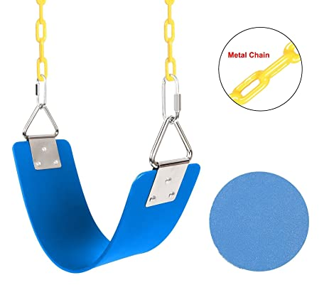 Garain Heavy Duty Swing Seat With Metal Triangle Hook, Playground Blue Swing  Set Accessories Replacement