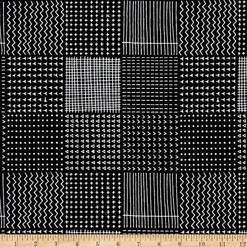 Kaufman Blueberry Park Geo Plaid Black Fabric By The Yard