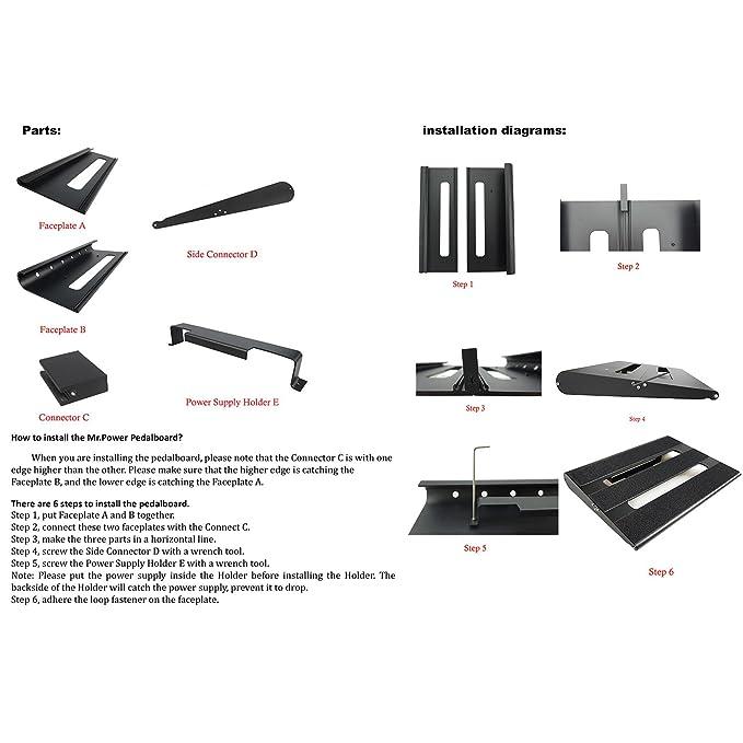 Amazon Mrpower Tm Guitar Pedal Board Case 138x11 Aluminium