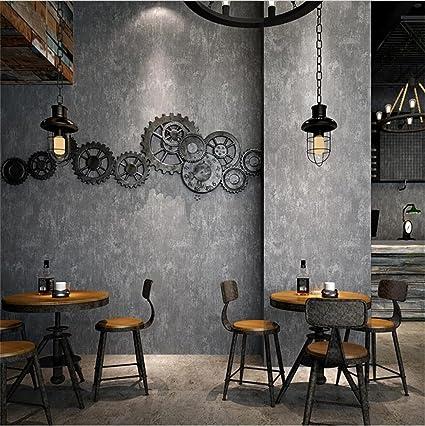 HM Papel pintado Retro Industrial Style Gray Mottled Cement Pattern 3D Rollo de papel tapiz para