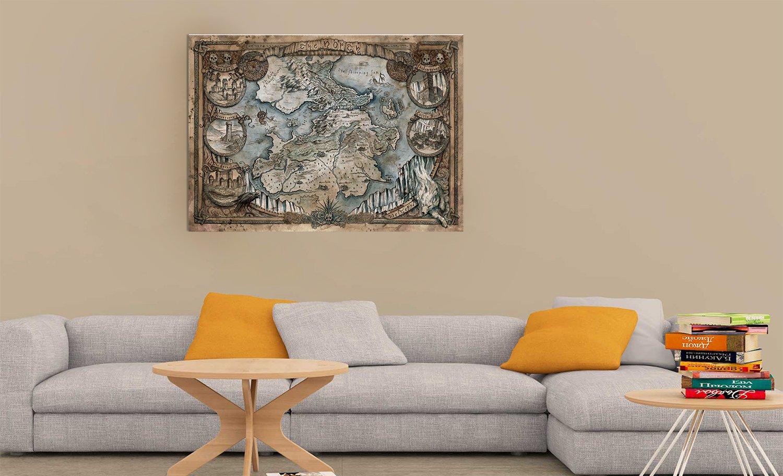 Mappa del Trono di Spade PVC su Legno Stampa Fotografica by bubbleshirt Quadro 50 x 70 Game of Thrones Map