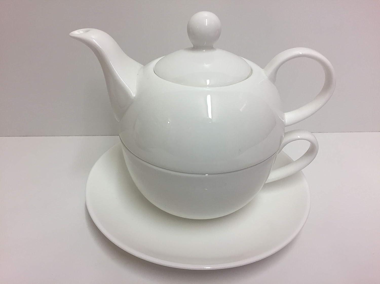 Tea for One White Bone China