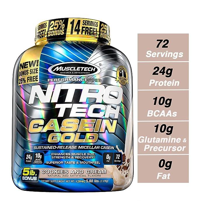 Muscletech 肌肉科技 金装正氮酪蛋白粉 奶油饼干味 5磅(2.27kg) 镇店之宝¥292