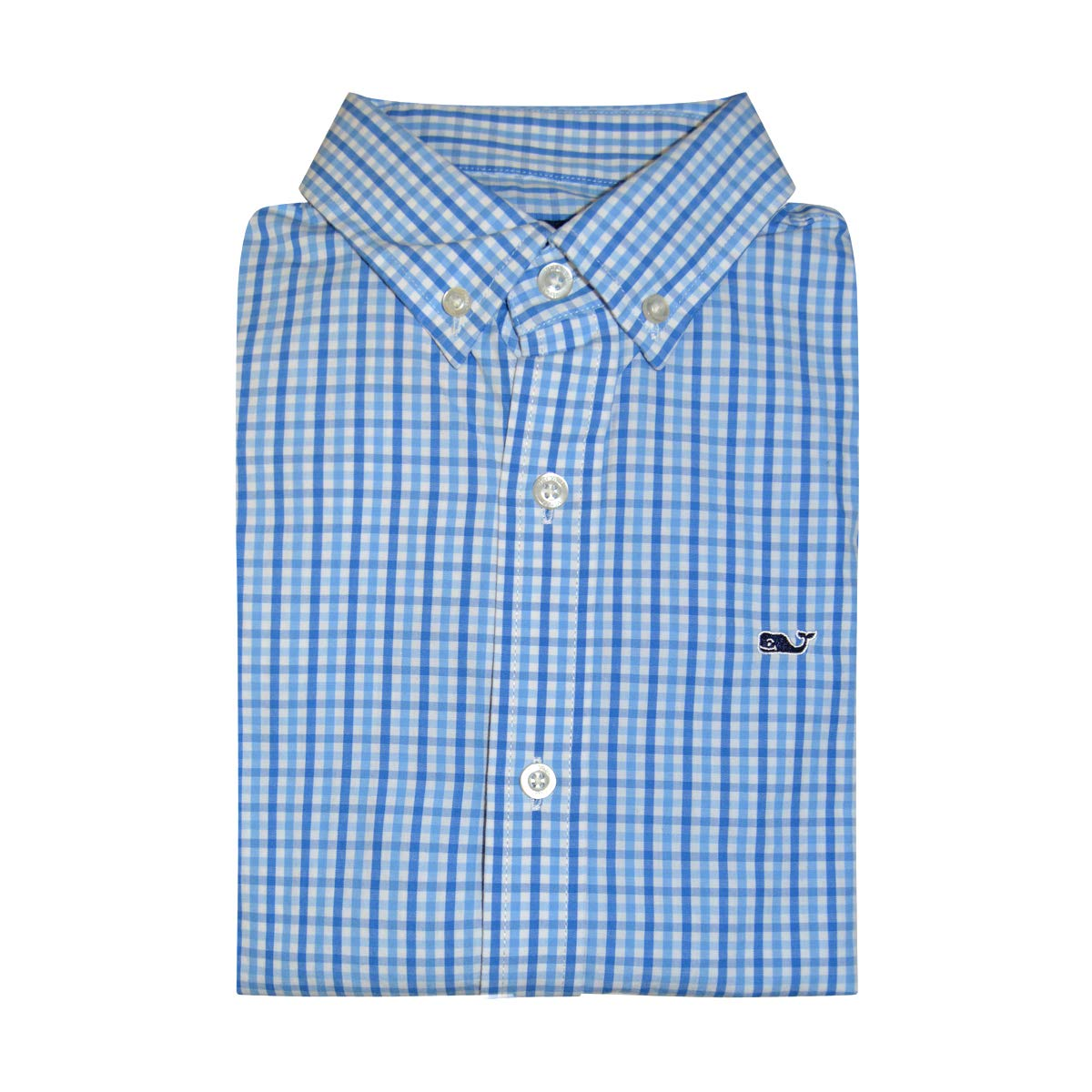 Vineyard Vines Boys Whale Shirt Long Sleeve Button Down Dress Shirt (Turtle Check Harbor Cay, X-Large)