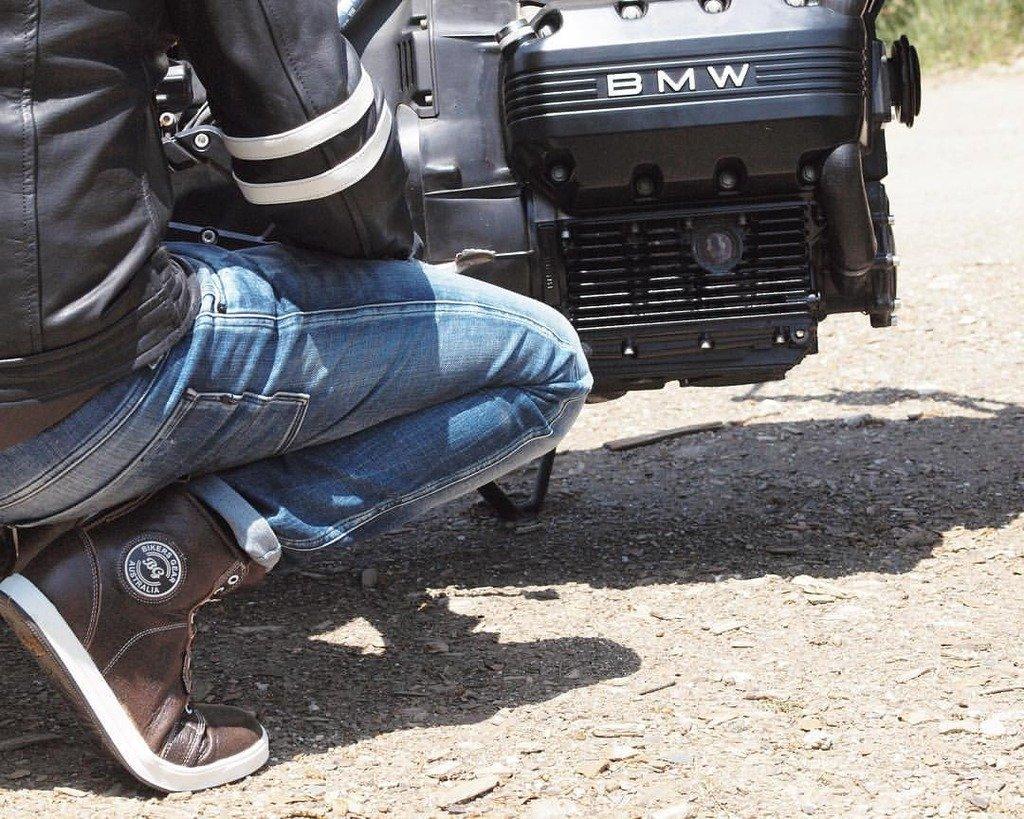 Bikers Gear UK Veste de Moto Couleur Black /& Oxblood en Cuir Travaille Blouson mod/èle Caf/é Racer Hybrid avec Protection approuv/ées CE talle S