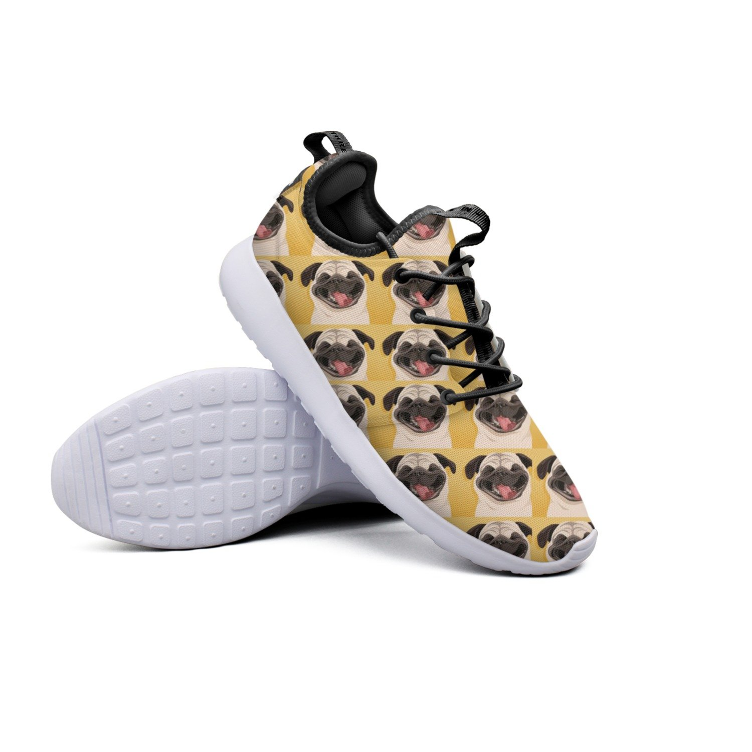 f37ed1f38af87 Amazon.com: YYuuijk Funny Pug Pattern Net Men's Running Shoes Casual ...