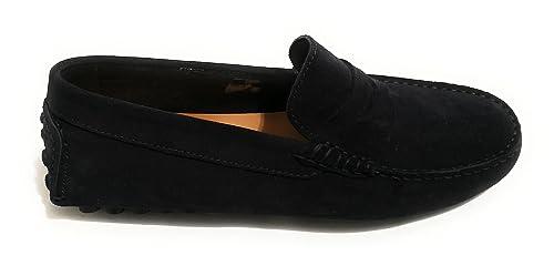 ANTICA CUOIERIA - Mocasines de Ante para Hombre Azul Turquesa: Amazon.es: Zapatos y complementos
